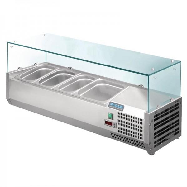 Polar Aufsatzkühlvitrine für 3x GN1/3 + 1x GN1/2