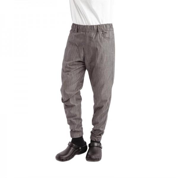 Chef Works Urban Jogger 257 Kochhose schwarz-weiß gestreift S