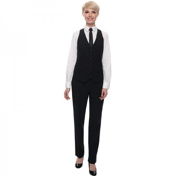 Damen Kellnerhose schwarz Standardlänge - Größe 48