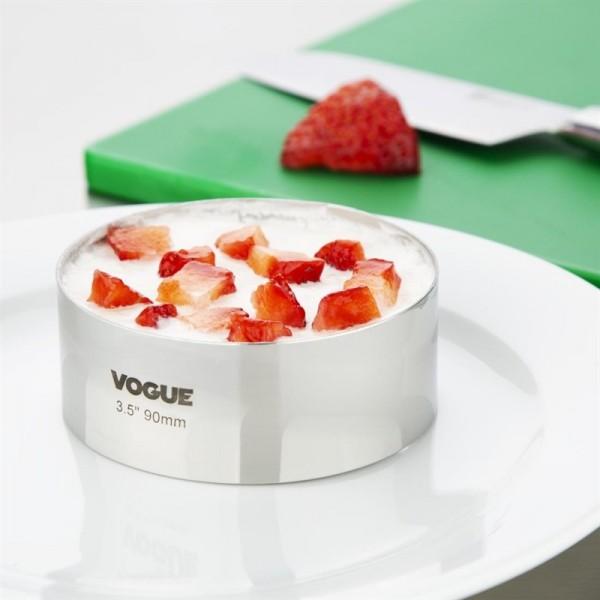 Vogue Moussering Edelstahl 3,5 x 9cm