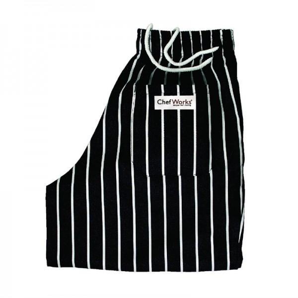 Chef Works Lockere Designer-Kochhose gestreift S