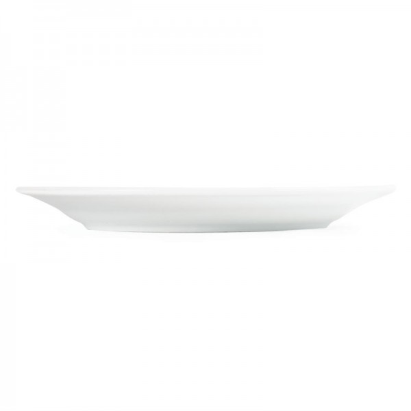 Olympia Whiteware Teller mit breitem Rand 20cm