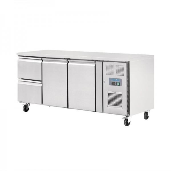 Polar Kühltisch 2-türig mit 2 Schubladen 417L