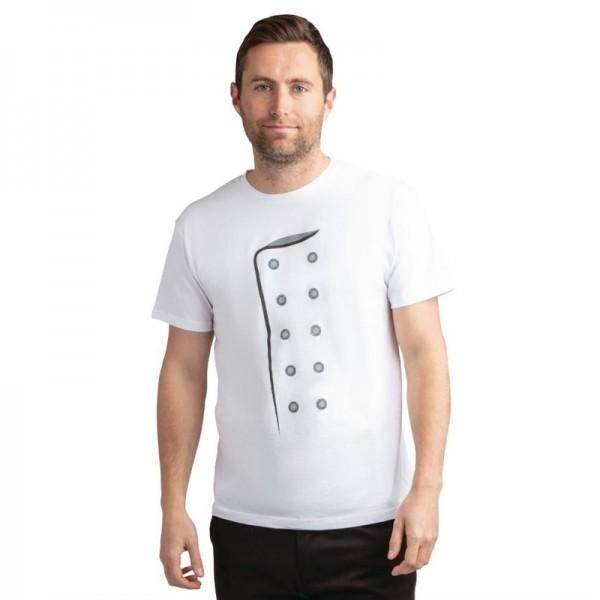 Chef Bedrucktes T-Shirt weiß Größe L