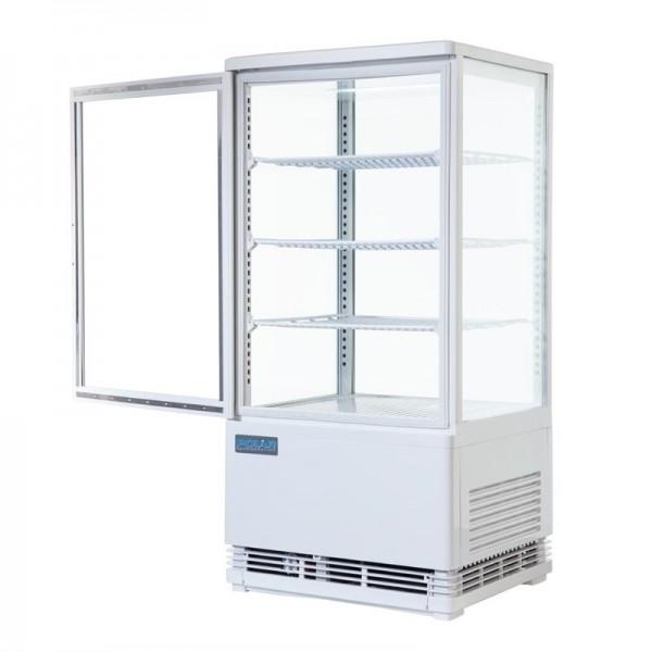 Polar Serie C Kühlvitrine mit gebogenen Türen 86L
